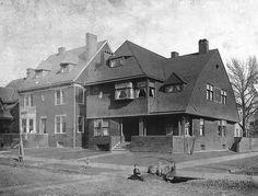 Dubois and Larned, Detroit Samuel T. Douglas residence by Mason and Rice at 114 Dubois (corner of Larned) on the East side, Detroit built 1891.