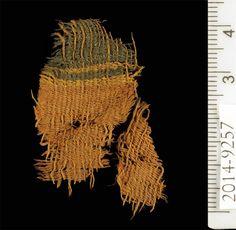 Dyed textile at Timna. Image: Clara Amit, courtesy of the Israeli Antiquities Authority