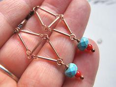 Moois van ' M(i)e': juwelen - MAAK HET ZELF : project : oorbellen 'geometrie '