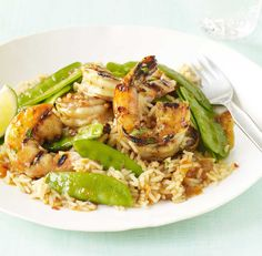 Apricot Lime Glazed Shrimp #fish #seafood #healthy #dinner #summer