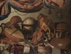 """""""Still Life with Musical Instruments"""" by Bartolomeo Bettera."""