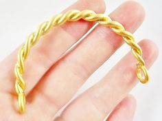 Twisted Bar Bracelet with Loops  22k Matte Gold by LylaSupplies, $8.00