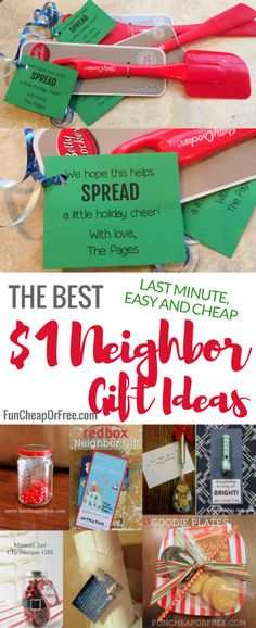 If your neighborhood is anything like mine, you all love giving small little gifts to each other as a way to show your love and appreciation. And if you're anything like me, you might need some neighbor gift ideas once in a while! Mason Jar Christmas Gifts, Neighbor Christmas Gifts, Cheap Christmas Gifts, Mason Jar Gifts, Neighbor Gifts, Craft Gifts, Diy Gifts, Holiday Gifts, Christmas Crafts