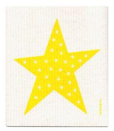Dishcloth - Big Star - Yellow