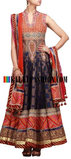 Buy it now http://www.kalkifashion.com/heavily-embroidered-suit-in-blue-adorn-with-zari-and-resham-work.html  Heavily embroidered suit in blue adorn with zari and resham work
