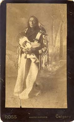 Bobtail, the son of Peechee, had been recognized as a principal Chief not only of the Mountain Cree, but of all the Western Cree bands since the 1870s. It is said that Bobtail, like other Cree chiefs, was also of Metis descendance. His Metis name was Alexis Piché.