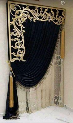 Luxury Curtains, Elegant Curtains, Home Curtains, Curtains Living, Modern Curtains, Classic Curtains, Curtain Styles, Curtain Ideas, Curtain Designs For Bedroom