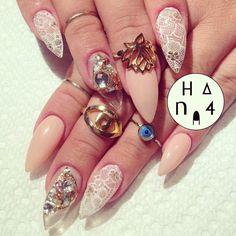♥ PrettyProject - hana4art: I did her nails done✨ @Regina Rodriguez...