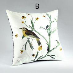 Bird throw pillows pastoral style 3D animal off the sofa cushions