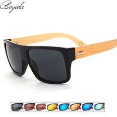 3479f1d65461f1 BOYEDA Vintage Bamboo Sunglasses Men Wooden Glasses Brand Designer Original  Wood Mirror Pilot Sun Glasses for Women Eyewear