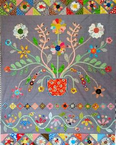 Spring Fever Sampler Quilts, Scrappy Quilts, Mini Quilts, Patchwork Quilting, Crib Quilts, Applique Patterns, Applique Quilts, Embroidery Applique, Quilt Patterns