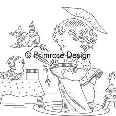 Vintage Embroidery Pattern PDF - Children's Apron Design