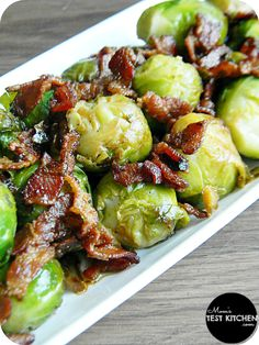 Brussels Sprouts with Bacon & Shallots. I would use fresh Brussels sprouts instead of frozen.