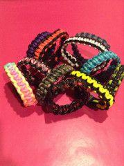 Cobra Stitch Parachute Cord Bracelets