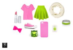 """pink and green"" by animaljam-rocks21 ❤ liked on Polyvore featuring Splendid, Converse, Topshop, HoneyBee Gardens, claire's, Rachel Zoe, Essie and Kenny & Co."