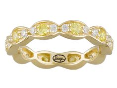 """Remy Rotenier For Bella Luce (R) 1.26ctw Canary/White Diamond Simulants Eterno (Tm) """"ami 2"""" Ring"""