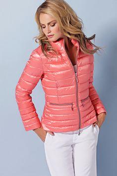 Beaumont - glanzend doorgestikte jas