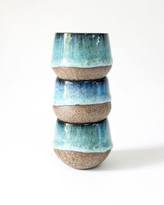 A totem pole of small Echo tumblers for your Sunday. Just a peek at some of the pieces available in our first Mallee collection release later this week. Join the MM List for early access. Glazes For Pottery, Pottery Bowls, Ceramic Pottery, Pottery Art, Glazed Pottery, Ceramic Bowls, Ceramic Art, Earthenware, Stoneware