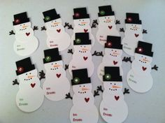 Snowman Gift Tags..