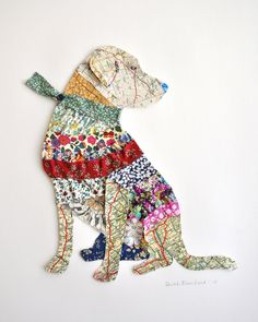 Labrador 2, Collage / mixed media by Sarah Blomfield | Artfinder