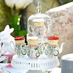 Truly Alice Teapot Cakestands