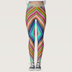 Many Colorful Stripes Leggings