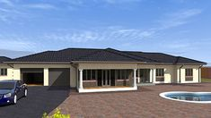 Save time and money with our Budget House Plans at discounted prices. Get a FREE House Plan Floor Layout design for your property. Free House Plans, House Layout Plans, Small House Plans, House Layouts, 6 Bedroom House Plans, House Plans Mansion, Basement House Plans, Flat Roof House, Facade House