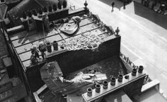 The tail of a shot down Dornier Do.17 fell on the roof of a house in London. The rest of the German aircraft fell in a different area of the city, near London Victoria Station.