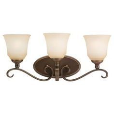 Sea Gull Lighting Parkview 3-Light Russet Bronze Vanity Light 44381-82