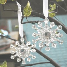 Beaded Snowflake Ornament - Winter Wedding Favors http://www.ecrafty.com/casearch.aspx?SearchTerm=snowflake
