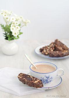 ¡Qué cosa tan dulce!: Biscotti de tres chocolates y nueces