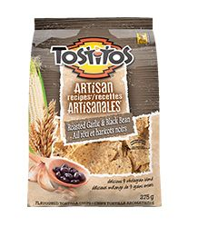Tostitos® Artisan Recipes™ Roasted Garlic & Black Bean Tortilla Chips #InspireTheSeason