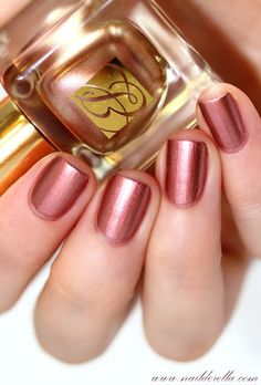 ESTEE LAUDER NAIL POLISH: Rose Gold is an metallic pink with a touch of gold in it. - See more at: http://www.nailderella.com/2013/10/estee-lauder-molten-metals-fall-2013.html?m=1#sthash.GtitbSNz.dpuf