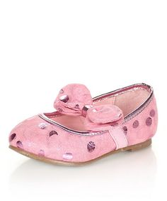 Take a look at this Pink Puffy Ballet Flat by Jelly Beans on #zulily today!