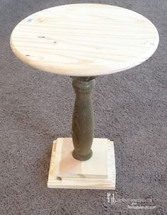 DIY Pedestal Side Table Tutorial