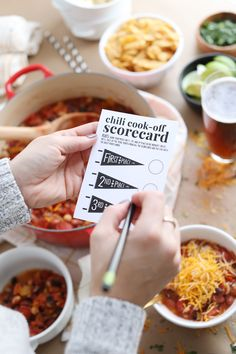 Hosting a Chili Cook-Off in 5 Easy Steps - Scorecard ...