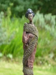 Create weatherproof fabric, cloth and textile sculptures. For all types of arts and crafts; a mixed media must have. Textile Sculpture, Garden Sculpture, Mixed Media Canvas, Types Of Art, Sculptures, Arts And Crafts, Outdoor Decor, Backsplash, Steampunk