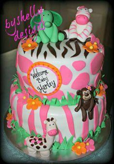 Jungle Jill Shower Cake