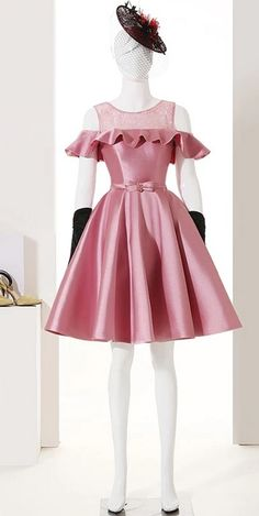 Dusty Rose Homecoming Dresses ,Short Prom Dresses,Satin Cocktail Dress,Short Party Dress This homecoming dress is so nice. It can be made with custom sizes and color. Junior Prom Dresses Short, Homecoming Dresses 2017, Navy Prom Dresses, Formal Dresses For Teens, Cheap Prom Dresses, Party Dresses, Short Dresses, Girls Dresses, Short Prom
