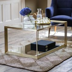 Create an eye-catching focal point in the living room or open-plan space with our stunning Belvedere Coffee Table, which combines practicality with punchy design. Mirrored Coffee Tables, Unique Coffee Table, Coffee Table Design, Bedside Tables, Living Room Colors, Living Room Decor, Living Rooms, Living Spaces, Front Rooms
