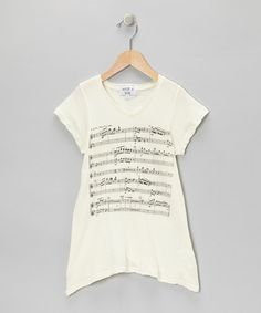Take a look at this Ceramic White Juliet's Song V-Neck Tee by Wildfox Couture on #zulily today!