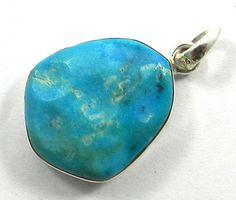 Fabulous 925 silver Natural American Turquoise gemstone designer pendant jewelry #Handmade #Pendant