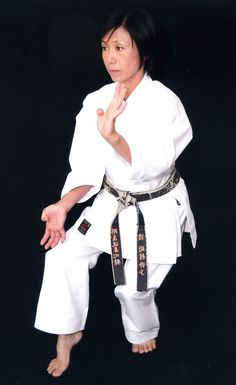 Suzuko Okamura Hamasaki    Women's First World Kata Champion  and for three consecutive years. My hero.
