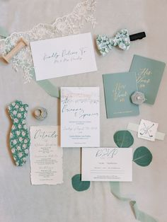 Those stationary details! #weddingday #weddingvibes #tie #emerald #stationary #wedding #logo