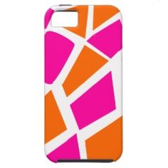 Funky Hot Pink Orange Giraffe Print Girly Pattern iPhone 5 Case #iphone5 #iphonecases #zazzle #prettypatterngifts www.PrettyPatternGifts.com