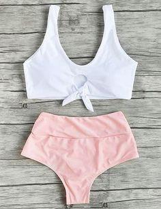 High Waisted Bikini #BAICANADEAN #HighWaistBikini
