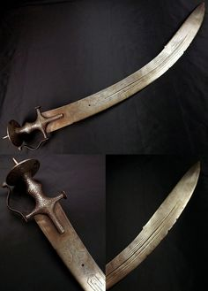 Indian tegha sword, 18th century, large and massive 36 inch sword with a 32.5…