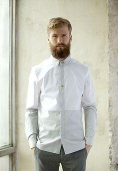 Long sleeve shirt in white colour I'M a dandy for men Men Formal, Men Design, African Men, Shirt Style, Casual Shirts, Long Sleeve Shirts, Shirt Designs, Menswear, Dandy