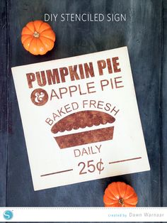 Vintage-Style Wood Pie Sign with the Free Design of the Week | Dawn Warnaar for Silhouette