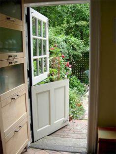 i am a big fan of dutch doors ~ mine is red